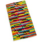 Pixelated Beach Towel in Stripes