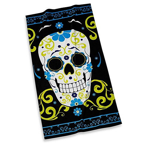 Skull Beach Towel