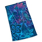 Blue Watercolor Paisley Beach Towel