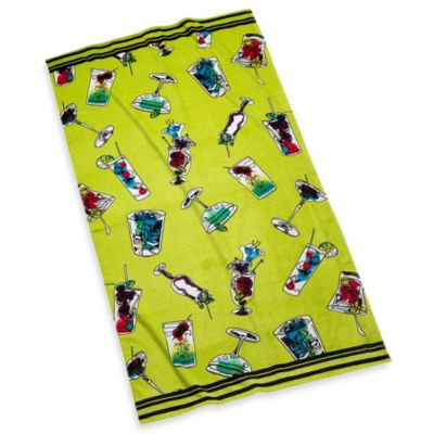 Tropical Drinks Beach Towel