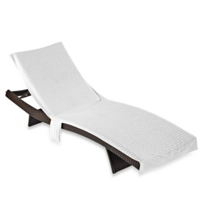Buy luxury beach towel from bed bath beyond for Beach towel chaise lounge cover