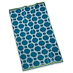 Teal Fretwork Beach Towel