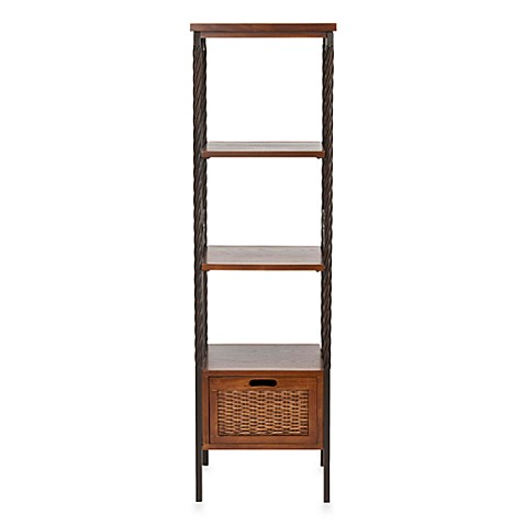 Safavieh Olivia Etegere Wood 2-Box Drawer Shelving Unit