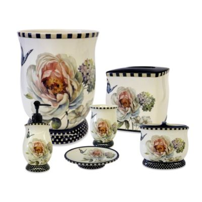Marche Aux Fleur Ceramic Tooth Brush Holder