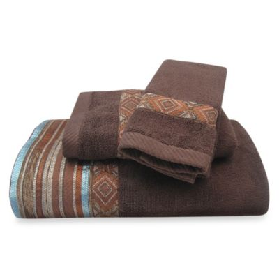 Brown Turquoise Towels