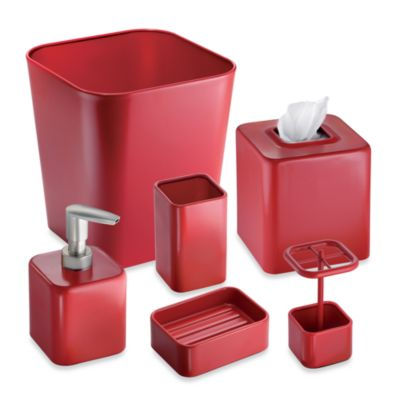 Red Bath Holders