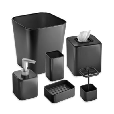 Interdesign® Gia Wastebasket in Black