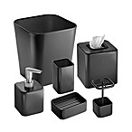 Interdesign® Gia Black Waste Basket