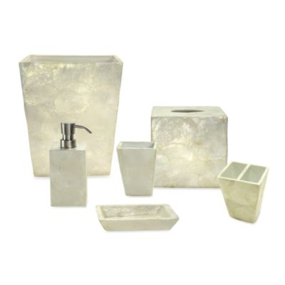 Coastal Capiz Ivory Bath Lotion Dispenser
