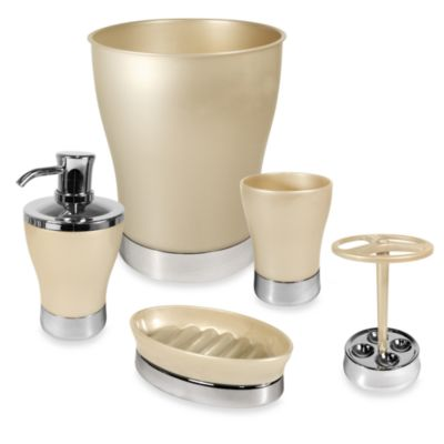 Interdesign® Tresca Bath Tumbler in Champagne