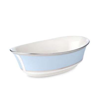 Ivory Blue Vegetable Bowl