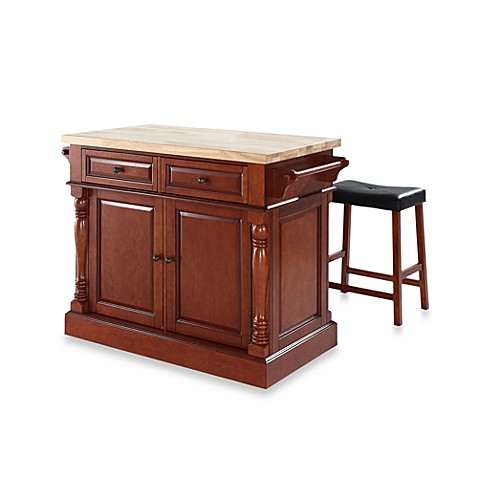 Buy crosley butcher block top kitchen island with 24 inch for 24 inch kitchen island
