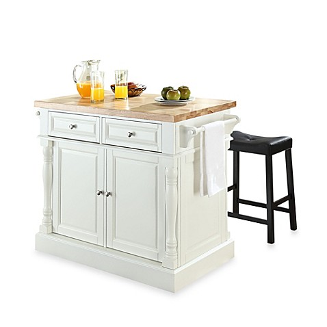 Buy crosley butcher block top kitchen island in white with for 24 inch kitchen island