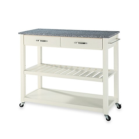 Crosley Granite Top Kitchen Cart in Cherry