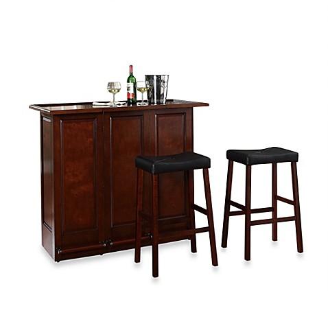 Buy Crosley Folding Bar Cabinet With 29 Inch Saddle Stool