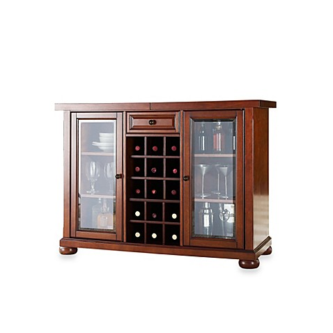 Crosley Alexandria Sliding Top Bar Cabinet