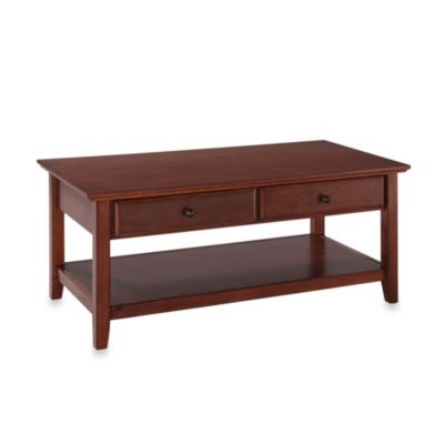 Crosley Coffee Table with Stoarage Drawers in Cherry