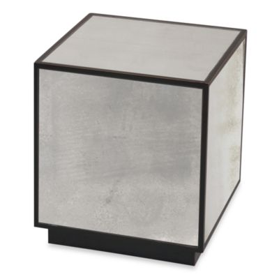 Uttermost Matty Metal Mirrored Cube Table