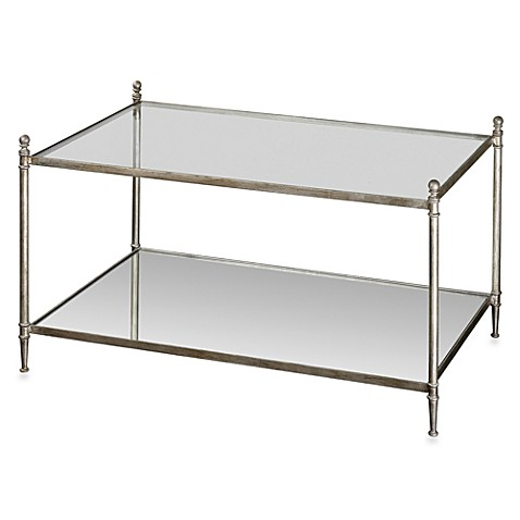 Uttermost Gannon Metal Mirrored Glass Coffee Table