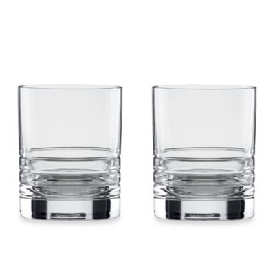 kate spade new york Percival Place Crystal 16-Ounce Double Old-Fashioned (Set of 2)