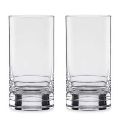 kate spade new york Percival Place Crystal 12-Ounce Highball (Set of 2)