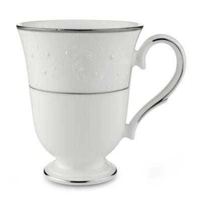Lenox® Opal Innocence™ Accent Mug in White/Platinum