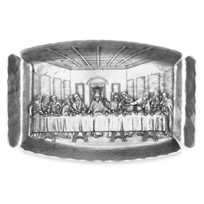 Handmade Last Supper Serving Tray by Wendell August Forge