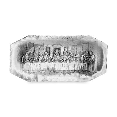 Handmade Last Supper Bread Tray by Wendell August Forge
