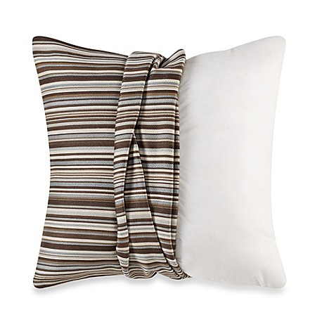 Buy MYOP Gummy Bear Stripe Square Throw Pillow Cover in Blue/Brown from Bed Bath & Beyond