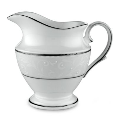 Lenox® Opal Innocence™ Creamer in White/Platinum