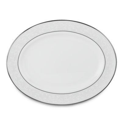 Lenox® Opal Innocence™ 13-Inch Oval Platter in White/Platinum