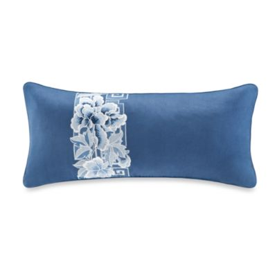 N Natori® Blue Porcelain Oblong Toss Pillow