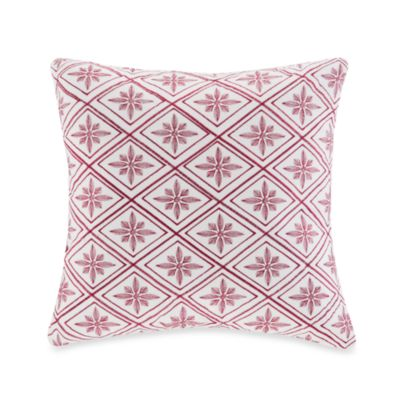 Natori White Toss Pillow