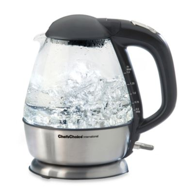 Chef's Choice®International 1.5-Quart Cordless Electric Glass Kettle