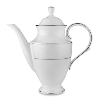 Lenox® Opal Innocence™ Coffeepot in White/Platinum