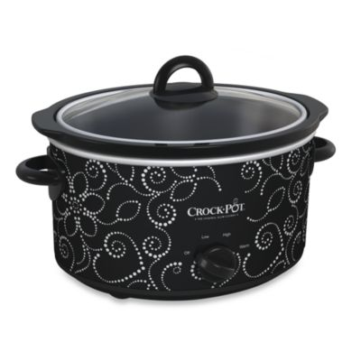 CrockPot® 4Quart Manual Slow Cooker in Pattern Finish