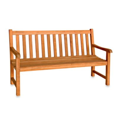 Teak 4-Foot Garden Bench in Classic Teak