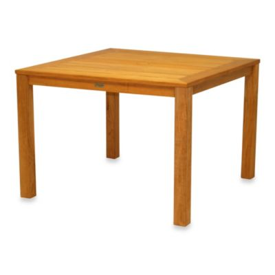Newport 42-Inch Square Solid Teak Dining Table