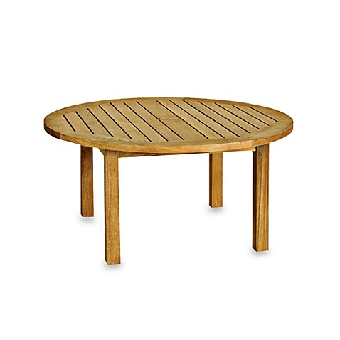 Buy solid teak round coffee table from bed bath beyond Solid teak coffee table