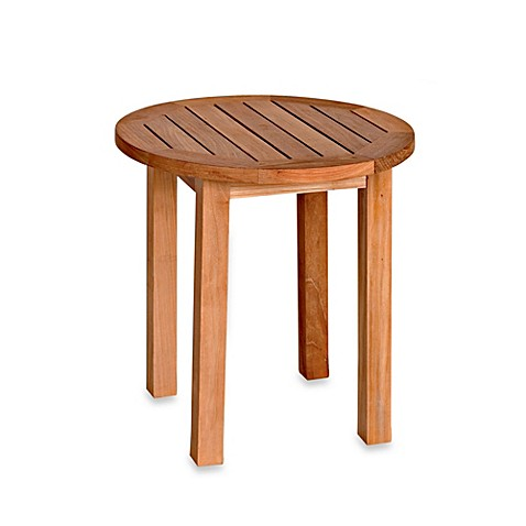 Canterbury Solid Teak Tall Round Side Table