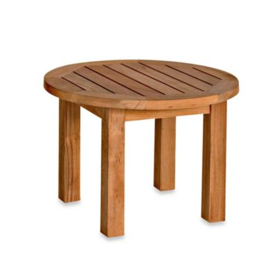 Solid Teak Low Round Side Table