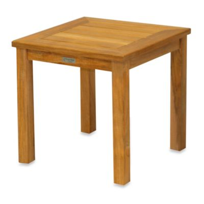 Newport Solid Teak Tall Square Side Table