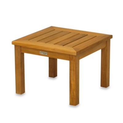 Solid Teak Low Square Side Table