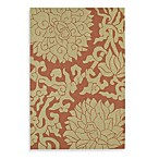 Kaleen Bahama Rose Indoor/Outdoor Rug in Paprika