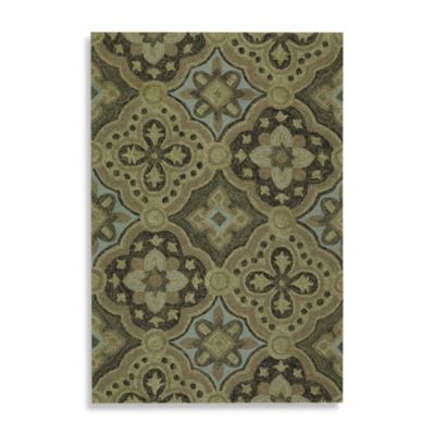 Kaleen Courtyard 2-Foot 6-Inch x 8-Foot Indoor/Outdoor Rug in Mocha