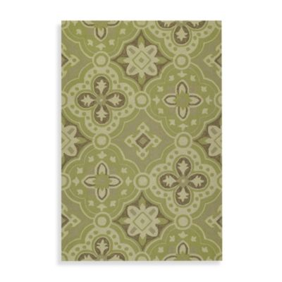 Kaleen Courtyard 4-Foot x 6-Foot Indoor/Outdoor Rug in Wasabi