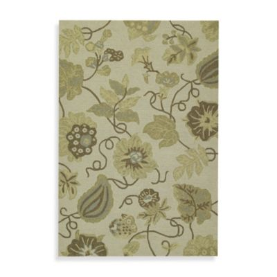 Garden Harbor 5-Foot 9-Inch Square Indoor/Outdoor Rug