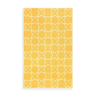 Liora Manne Capri Moroccan Tile 3-Foot 6-Inch x 5-Foot 6-Inch Indoor/Outdoor Rug in Yellow