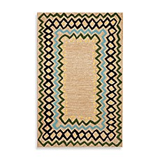 Ethnic Border Ocean Indoor/Outdoor Rug