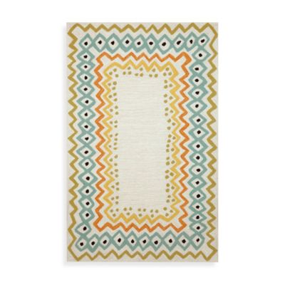 Trans-Ocean Ethnic 2-Foot x 8-Foot Indoor/Outdoor Rug in Pastel